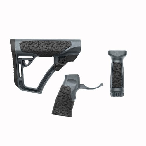 Stock Set w/Vertical & Foregrip Collapsible Mil Tornady Grey