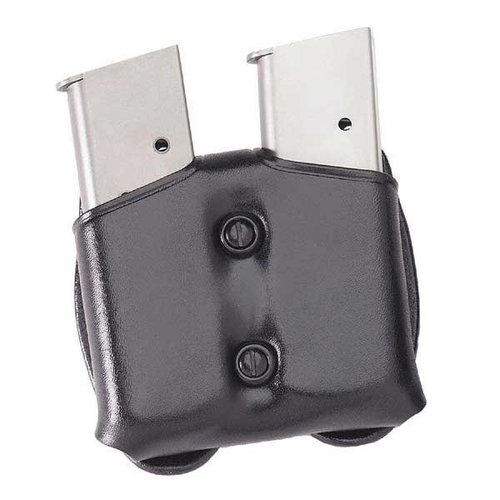 Cop Dual Magazine Carrier .45 Single Stack Metal Mag-Black