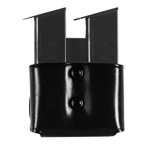 Double Paddle Mag Carrier 40 Staggered Metal Mag-Black