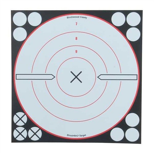 "Shoot-N-C 8"" Bulls-Eye Target (6 Pack)"