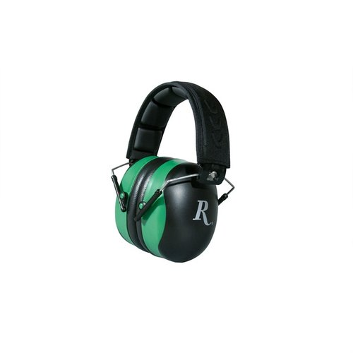 Remington Adult Ear Muffs-Black and Green